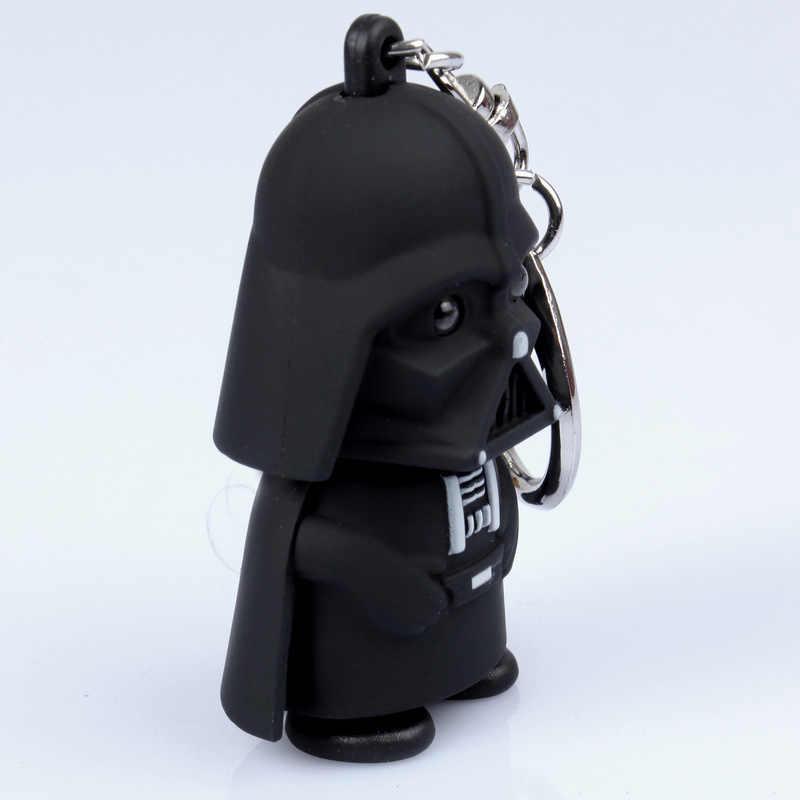 Qualidade TOP 2018 Star Wars Darth Vader Chaveiro Luz Negra Pingente de LED KeyChain Para O Presente Do Homem