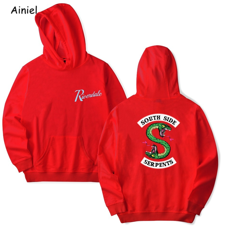 Riverdale Sweatshirt Hoodie Women South Side Loose top coat for Men Cosplay Costume Sports Leisure Pullover Casual Female Autumn