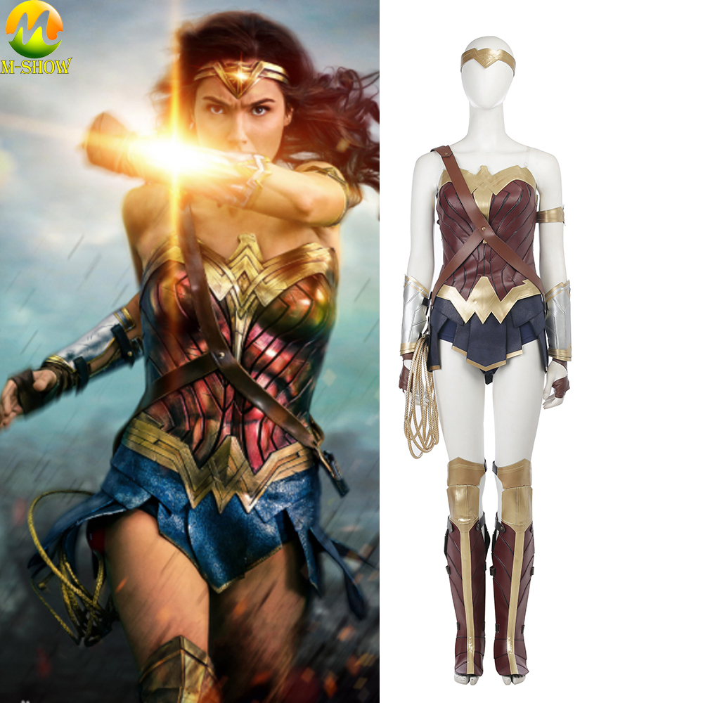 Wonder Woman Cosplay Costume Christmas Halloween Sexy Women Cosplay Full Set Diana Prince Cosplay Costume Custom Made
