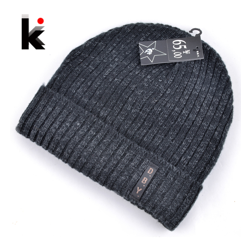 8230607f93015 2018 mens designer hats bonnet winter beanie knitted wool hat plus velvet  cap skullies Thicker mask Fringe beanies for men
