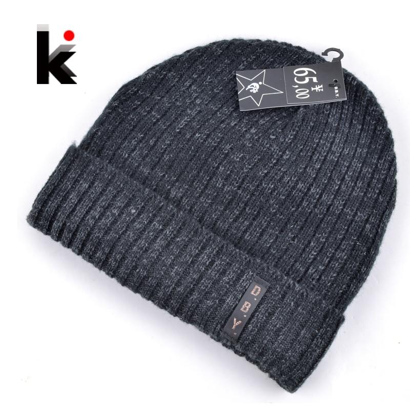 8230607f93015 2018 mens designer hats bonnet winter beanie knitted wool hat plus velvet  cap skullies Thicker mask Fringe beanies for men