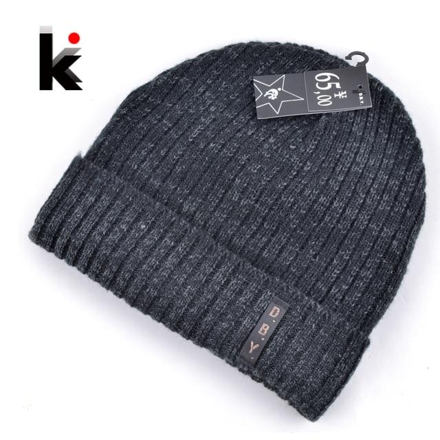 2018 mens designer hats bonnet winter beanie knitted wool hat plus velvet  cap skullies Thicker mask Fringe beanies for men 7f3fe96152d
