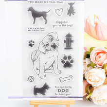 DECORA 1PCS Gift Dog Design Silicone Transparent Clear Stamp DIY Scrapbooking Stamping Christmas Decoration Supplie