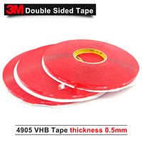 10MM*33M/5Rolls High Quality 3M 4905 double sided acrylic adhesive clear VHB tape 0.5mm thick