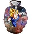 Men Women Harajuku Sweatshirts Anime Dragon Ball Z Vegeta Hooded Sweatshirts Galaxy Hoodies Male Female Outerwear Pullovers