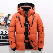 High Quality Winter Jacket Men Hooded Thick Warm Duck Down Parka Coat Casual Slim Down Mens Overcoat Many Pockets все цены