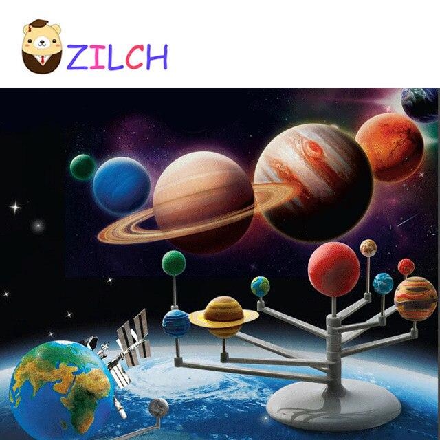 Tienda Online DIY Sistema Solar nueve planetas planetario modelo Kit ...