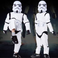2017 Fashion Child Boy Deluxe Star Wars The Force Awakens Storm Troopers Cosplay Fancy Kids Halloween
