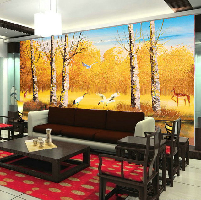 Chinese style wallpaper mural fantasias papel de parede wall ...