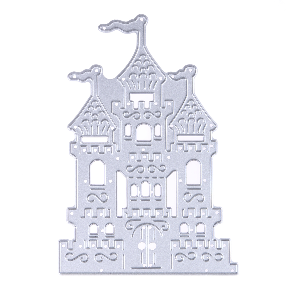 1pc Brand New Castle Design Metal Cutting Dies Stencil for DIY Scrapbooking Embossing Folder Decoration Paper Card Crafts Dies