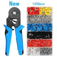 HSC8 6-4A Upgraded mini crimping  tools pliers kit 1200pcs tubular terminals box 0.08-10mm high precision clamp set