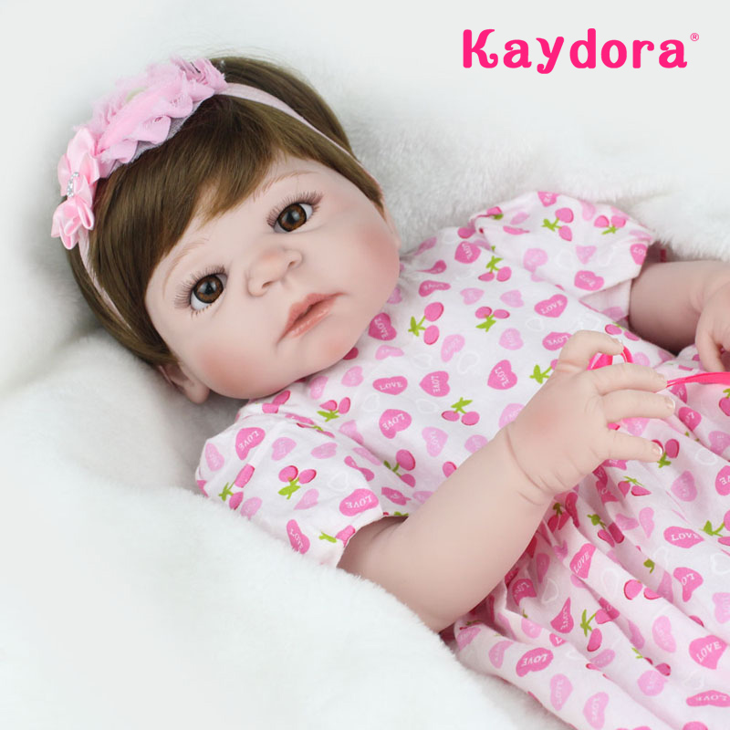 Kaydora handmade boneca reborn doll boneca bebe reborn 55 cm realistic boneca newborn dolls for girls kids Christmas gift