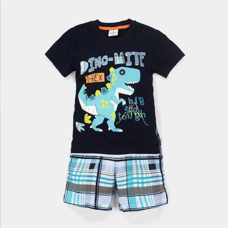 2021 Baby Boy Clothes Suits Summer Children T-Shirts Shorts Pant 2-Piece Clothing Set Beach Kids Outfits Sport Suit 2 3 4 5 6 7Y 3