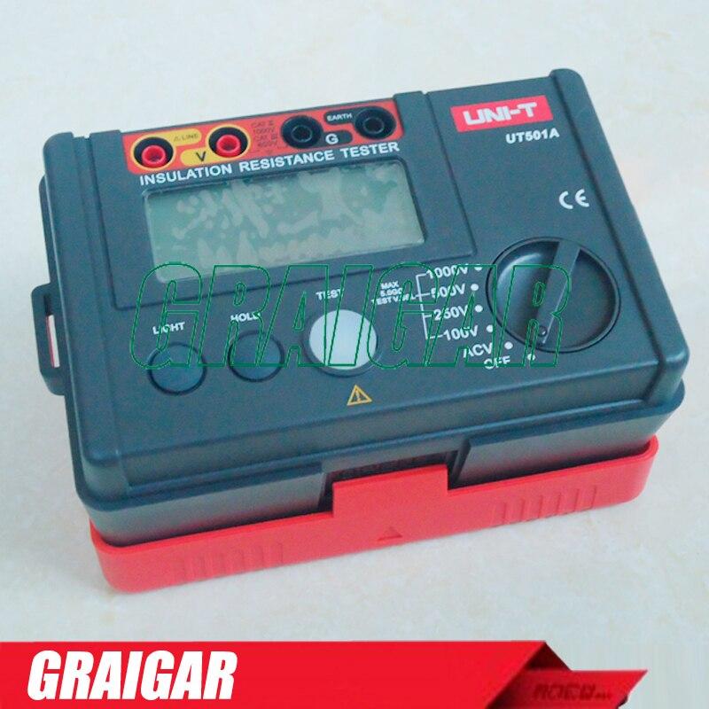 UNI-T UT501A Digital Insulation Resistance Meter ,0-1000V , 5.5G ohm Multi-function Ohm Tester Ground Tester