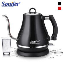 1.2L 304 Stainless Steel Electric Kettle Gooseneck 1500W Household Kitchen 220V Quick Heating Electric Boiling Tea Pot Sonifer(China)