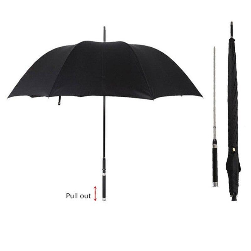DLYLDQH Marque De Mode Long Manche Homme Automatique Parapluie Coupe-Vent D'affaires Épée Guerrier Auto-défense Ensoleillé Parapluie Créateur
