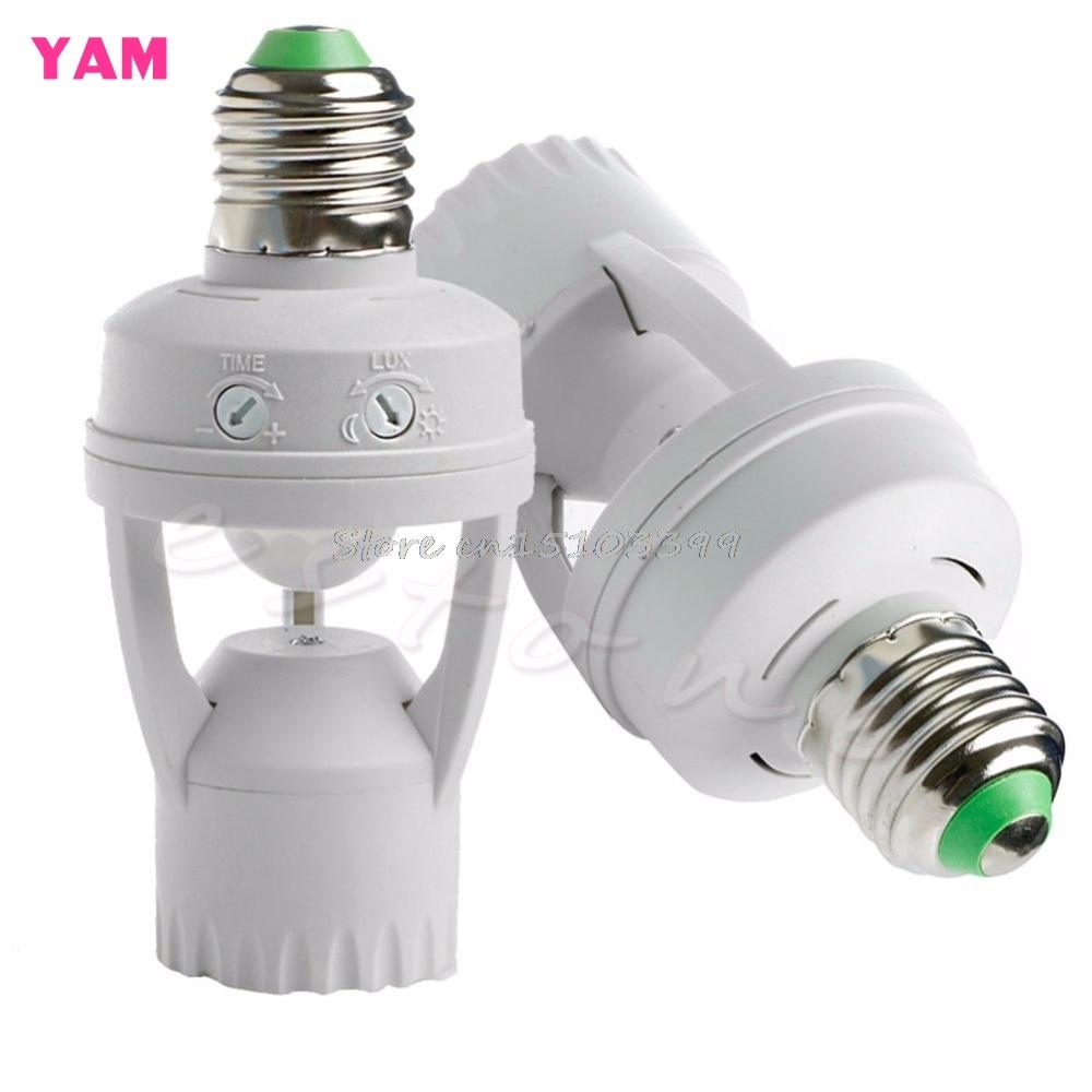 AC 110V 220V Infrared PIR Motion Sensor LED E27 Lamp Bulb Holder Switch -B119
