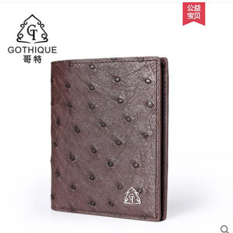 gete 2019 new Imported Ostrich leather wallet male vertical leather mens short Wallet ARC card business Card Bag men walletgete 2019 new Imported Ostrich leather wallet male vertical leather mens short Wallet ARC card business Card Bag men wallet