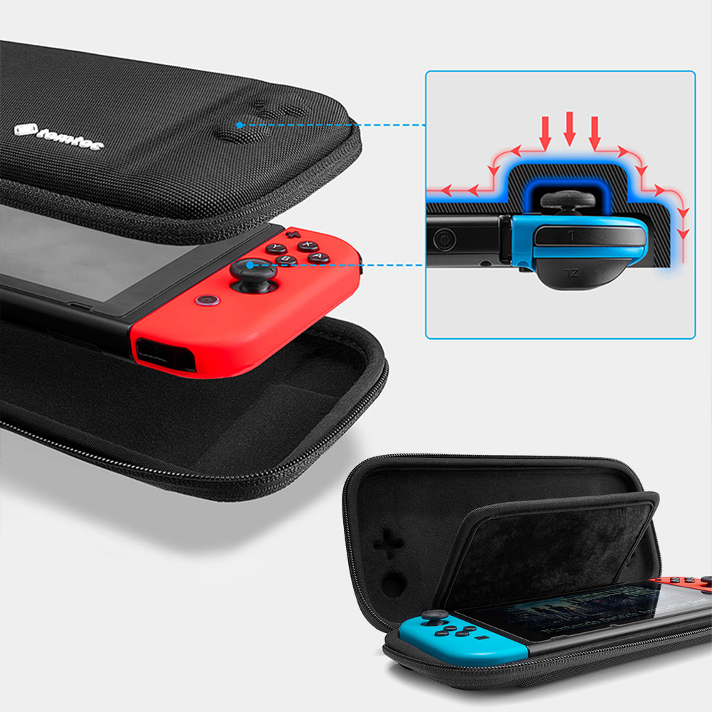 Eva Protective Hard Travel Carry Case Cover Pouch Hand Bag For Nintend Switch Ns Nx Console With Holder Stand Game Card Case Box Video Games