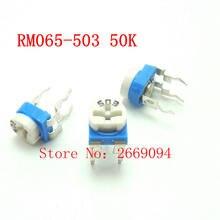 50 PCS Trimpot Trimmer Potenciômetro RM065 RM-065 50 K ohm 503 RM065-503 resistor variável frete grátis