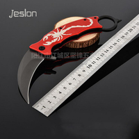 Jeslon F92 CSGO Karambit Knife Hunting Knives Camping Survival Tactical Knife Stainless Steel Scorpion Outdoor Claw
