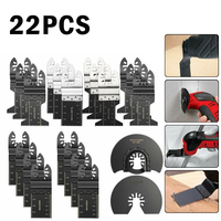 22pc Universal Oscillating Tool Multi Saw Blades Cutter For Makita Bosch Cutter