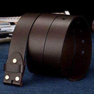 Image 4 - BIGDEAL ceintures en cuir véritable pour hommes, largeur 38mm 100%, Grain complet, sangle de marque à la mode, pour jean Vintage, sans boucle