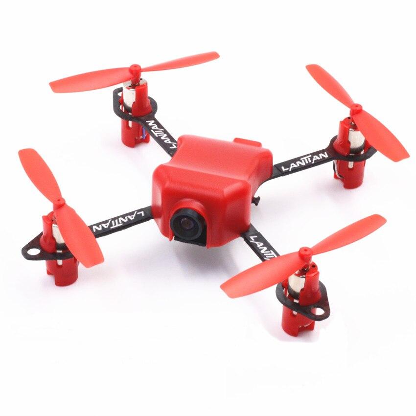 Oyuncaklar ve Hobi Ürünleri'ten RC Uçaklar'de LT105Pro Mini RC FPV Racer Drone Quadcopter SP F3 fırçalanmış uçuş kontrol 5.8G 600TVL kamera ARF/RTF BNF kiti'da  Grup 1