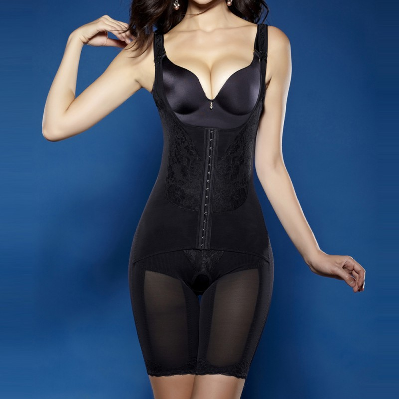 Women Slim Body Shaper Girls Corrective Underwear Magnet Shapewear Slimming Underbust Waist Corsets Bodysuits Girdles in Bodysuits from Underwear Sleepwears