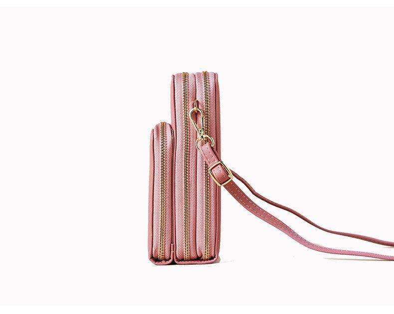 peito bolsa feminina cartão de bolso do