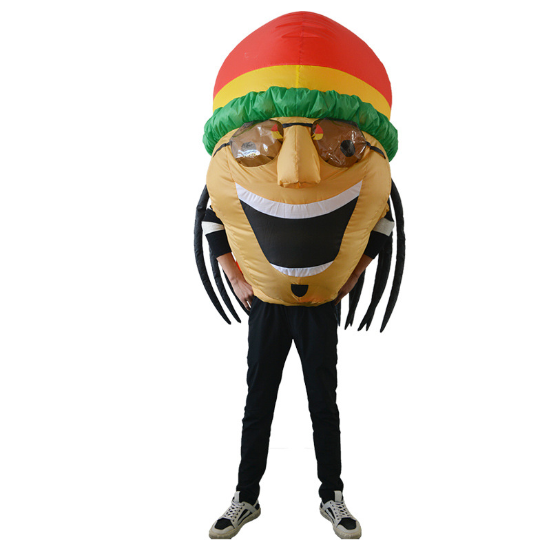 Jamaican Novelty Inflatable Costume For Adult Christmas/Halloween/Carnival/Make-up Party Fancy Dress Toys Cosplay Suits Outfit