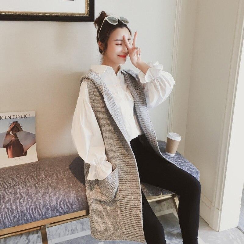 2018 summer women loose shawl sleeveless lady knit sweater coat woolen women cardigans vest red black