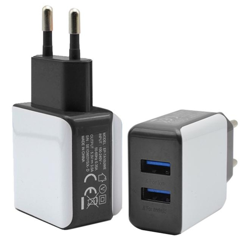 CARPRIE hot sale fashion 3A 2 Ports EU Plug USB Wall Travel AC Charger Adapter For Samsung Galaxy For iPhone very nice