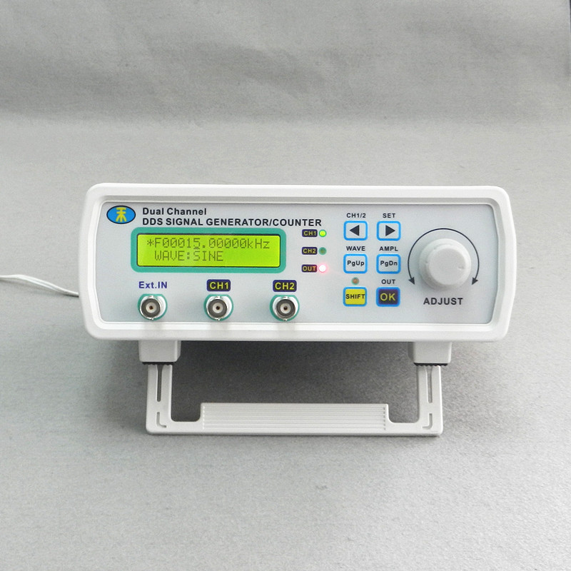 MHS-3200A DDS NC dual channel function signal generator TTL DDS Signal Generator Waveform generator 6MHz free shipping mhs 3206a dual channel nc function dds signal generator counter dds signal source frequency meter 6mhz