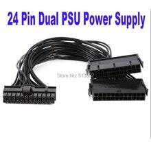 24Pin zasilania synchronizator męski na żeński ATX wydobycie 30 cm 24 Pin podwójny zasilacz kabel przedłużający do komputera adapter dla górnictwa