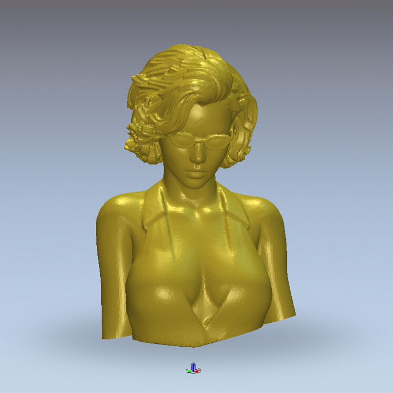 3d model relief for cnc in STL file format Women wear Glasses 3d model relief for cnc in stl file format ladyx nude girls women 22