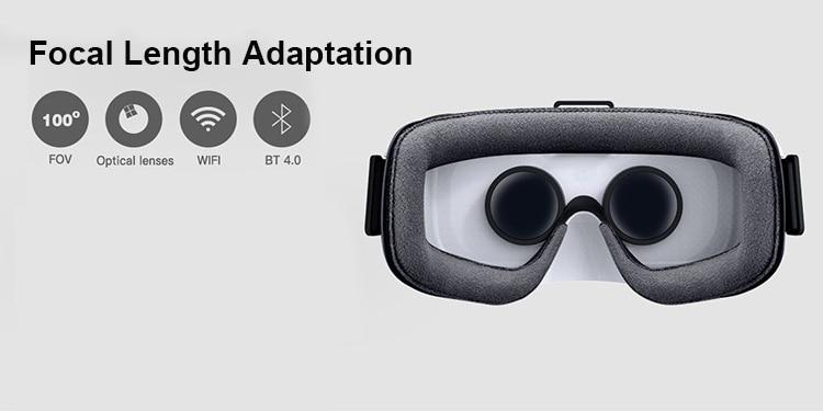Smart Alle in Een Virtual Reality VR Bril HD 1080 P 5.5 Scherm Rockchip RK3288 16G Bluetooth WiFi 3D Films Video Game Helment - 5