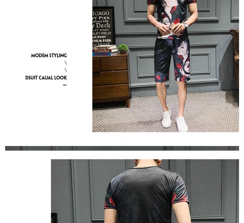 Loldeal Summer 3D Beauty Women's Print Set Ice Silk Short Sleeve T Shirt + Shorts Set Men's Print Butterfly Men's Set-in Men's Sets from Men's Clothing on Aliexpress.com   Alibaba Group 10