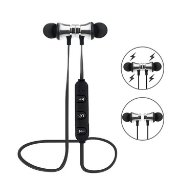 Teamyo Bluetooth Earphone Magnetic Headphones XT-11 Wireless Sports Headset Bass Music Earpieces with Mic Headset For IOSAndrio magnetic attraction bluetooth earphone headset waterproof sports 4.2