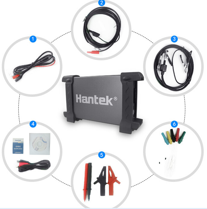 Hantek 6074BE 4 Channels 70Mhz Bandwidth Automotive Osiclloscope Digital USB Portrail Osciloscopio Diagnostic tool