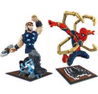 Mouche armure Superpower homme Peter Parker nouvelle arme hache diamant blocs de construction brique Jouets Jouets Juguetes ггггг© к