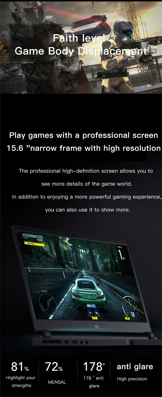 Xiaomi Mi Gaming Notebook 15.6 Intel Core 8G+1258G/16G 256GB Windows 10 Quad-core NVIDIA GeForce GTX 1060 I7-7700HQ 8