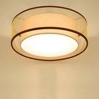 Новый современный потолочный светодио дный светодиодные лампы Диаметр ткань + Утюг абажур простой номер бар домашняя потолочная лампа спал
