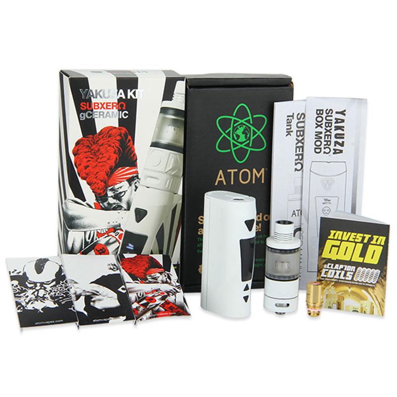 ФОТО 100% Original ATOM Yakuza 70W TC Kit with Kyodo Ceramic Tank 4ml Capacity Yakuza TC box MOD 70W