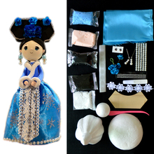 DOLLRYGA Slime Doll Set Chinese Style With Dress And Headwear DIY Colorful Clay Handmade Christmas Presents Education Craft