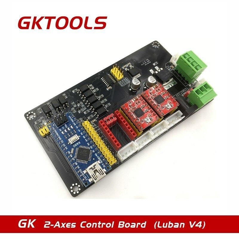 GKTOOLS-V4 USB Multi-axe Pas À Pas Commande de Moteur Carte, DIY Machine De Gravure Carte Mère Soutien PWM à Ajuster Laser Puissance