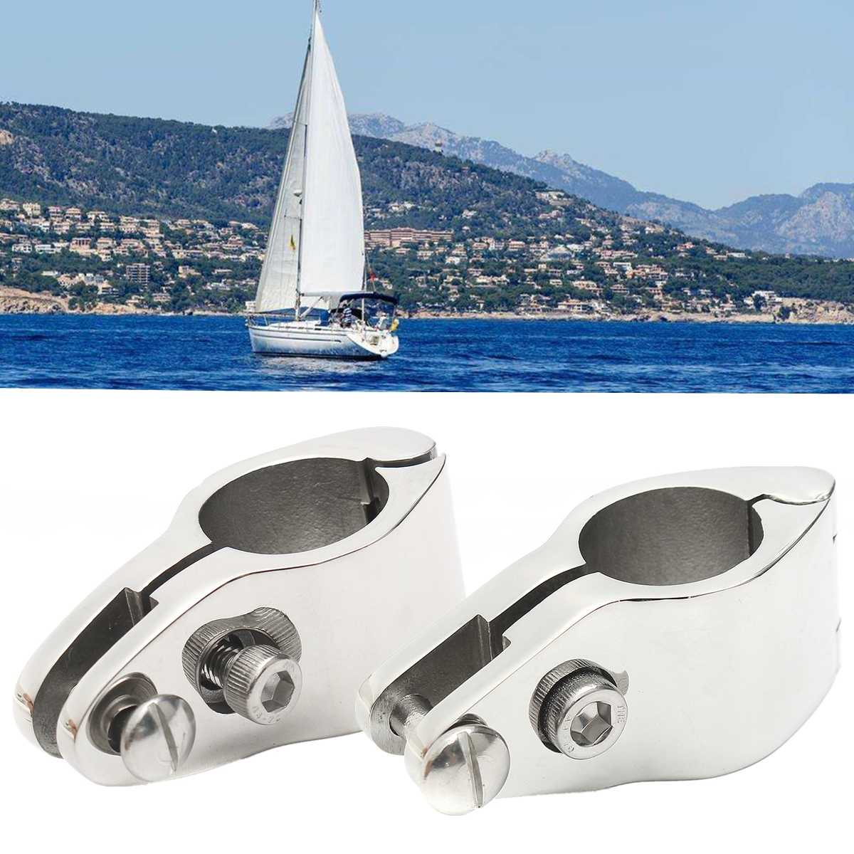 22/25mm 316 Stainless Steel Fitting Boat Bimini Top Hinged Jaw Slide Marine  Hardware With 2 Screws Easy Install