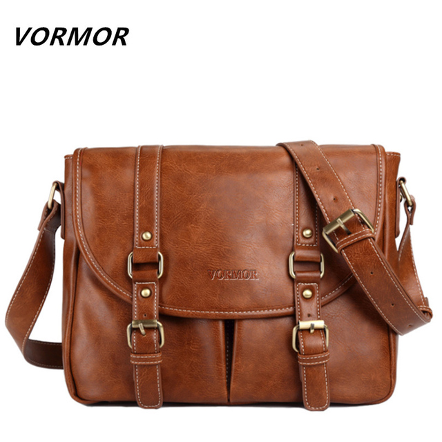 Leather Men Bag Casual Business Leather Mens Messenger Bag Fashion Men's Crossbody Bag