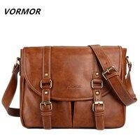 VORMOR Brand Leather Men Bag Casual Business Leather Mens Messenger Bag Fashion Men S Crossbody Bag