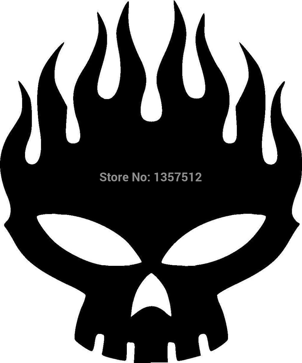 Bumper sticker api design - Wholesale 20 Pcs Lot Skull Fire Flame Car Sticker For Truck Window Bumper Auto Suv